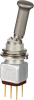 MICRO SWITCH TW Series Toggle Switch, 2 pole, 3 position, Solder terminal, Locking Lever -- 12TW870-1A -Image