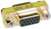 Compact/Slimline VGA Video Coupler Gender Changer (HD15 F/F) -- P160-000 - Image