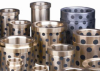 Cast bronze bearings with solid graphite lubrication -- made to order