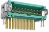 10+10 Pos. Male DIL Horizontal Throughboard Conn. Latches (T+R) -- G125-MH12005L1R -- View Larger Image
