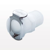 PLC Series Coupling Body, Straight Thru Acetal In-Line Pipe Thread -- PLC10006 -Image