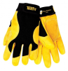 Tillman TrueFit 1475 Gold/Black Medium Grain Cowhide Leather/Spandex Full Fingered Work & General Purpose Gloves - Leather Palm & Fingers Coating - Smooth Finish - 8 in Length - 608134-14751 -- 608134-14751