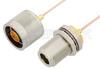N Male to N Female Bulkhead Cable 12 Inch Length Using PE-047SR Coax, RoHS -- PE34152LF-12 -Image
