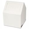 Sanitary Napkin Receptacle, 1.77 gal, White -- 205W