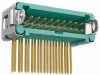 10+10 Pos. Male DIL Horizontal Throughboard Conn. Latches (T+R) -- G125-MH22005L3R -- View Larger Image