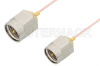 SMA Male to SMA Male Cable 6 Inch Length Using PE-020SR Coax, RoHS -- PE34191LF-6 -- View Larger Image