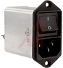 AC LINE FILTER WITH ON/OFF SWITCH, 2 POLE, 1A STANDARD -- 70080745 - Image