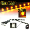 AMBER FOOTWELL STRIP LIGHT STRIPLIGHT SET 3 CHIP TUNDRA ALL -- TUNDRA_3C_FWK_A