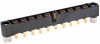 10 Pos. Male SIL Vertical Throughboard Conn. Jackscrews -- M80-5000000M2-10-331-00-000 - Image