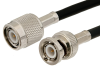 TNC Male to BNC Male Cable 24 Inch Length Using RG223 Coax -- PE3498-24 -Image