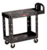RUBBERMAID HD 2-Shelf Utility Cart Flat Shelf (Small) -- Model# FG450589BLA