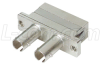 Duplex Fiber Adapter, SC / ST (Metal Body), Bronze Alignment Sleeve -- FOA-006M - Image