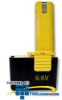 Panasonic 9.6V 1.7ah Ni-Cd Battery Pack (long stem) -- EY9180B