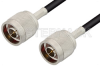 N Male to N Male Cable 24 Inch Length Using LMR-195 Coax -- PE3C0061-24 -Image