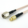 SMA Male (Plug) to MCX Plug (Male) Cable M17/113-RG316 Coax Up To 3 GHz, 1.35 VSWR in 48 Inch -- FMC0207316-48 -Image