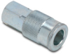 Air Coupling: quick-disconnect, steel, 3/8in ID 1/4in female NPT -- HC38-14F-A -- View Larger Image
