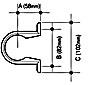 OsmaW ABS Pipe Clip BK 50 -- 2Z081B