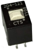 DIP Switches -- 204-121S-ND - Image