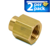 Connector Air Fitting: female, brass, for 1/2in NPT to 1/4in NPT, 2/pk -- BFFC-12N-14N - Image