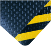 Diamond-Plate SpongeCote(R) No. 415; 4' Cut up to 75'; Black w/Yellow Chevron Borders -- 715411-20145