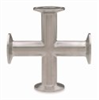 316L Stainless Steel Asme-bpe Sanitary Clamp Equal Cross, 15ra Electropolished Finish, 2