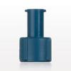 Tuohy Borst Adapter Cap, Blue, Female Luer Lock -- 80421 -Image