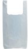 HDPE White T-Shirt Bags -- 50010