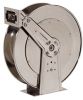 Spring Retractable Low Pressure Stainless Steel Hose Reel -- D84000 OLS