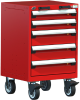 Heavy-Duty Mobile Cabinet, with Partitions -- R5BCD-3005 -Image