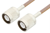 SC Male to SC Male Cable 60 Inch Length Using RG400 Coax, RoHS -- PE34453LF-60 -Image