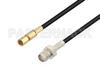 SMA Female to SSMC Plug Low Loss Cable 72 Inch Length Using LMR-100 Coax -- PE3C4426-72 -Image
