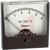 Panel Meter, 0-15DCV, + 2% (Full Scale); DC Voltmeter; Annular, Self-Shielding; -- 70209361