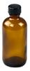 4oz/120ml Amber Boston Round Glass Bottle 22-400 Neck, P Cap -- 72496