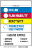 Brady B-555 Aluminum Rectangle White Chemical, Biohazard, Hazardous & Flammable Material Sign - 7 in Width x 10 in Height - TEXT: ___CHEMICAL NAME / HEALTH / FLAMMABILITY. - 46880 -- 754473-46880