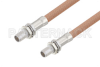 Slide-On BMA Plug Bulkhead to Slide-On BMA Plug Bulkhead Cable 36 Inch Length Using RG400 Coax -- PE3C4950-36 -Image