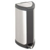 Step-On Waste Receptacle, Triangular, Stainless Steel, 4 gal -- 9685SS