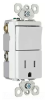 Combination Switch/Receptacle -- TM818-TRICC -- View Larger Image