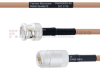 BNC Male to N Female MIL-DTL-17 Cable M17/128-RG400 Coax in 24 Inch -- FMHR0059-24 -Image