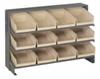Bins & Systems - 4'' Shelf Bins (QSB Series) - Sloped Shelving Units - Bench Racks - QPRHA-107 - Image