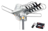 Amplified HD Digital Outdoor HDTV Antenna with Motorized 360 Degree Rotation, UHF/VHF/FM Radio -- WA-2608-Z