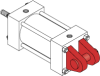 Series MN Aluminum Pneumatic Cylinder - Model MN61 NFPA Style MP1 -- Clevis Mount