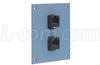 Universal Sub-Panel, 2 Category 5e Couplers, RJ45 Straight Thru -- USP2MC5B -Image