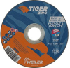 Weiler TIGER Zirconia Alumina Cutting Wheel - Type 1 - Straight Wheel - 4 1/2 in Diameter - 7/8 in Center Hole - Thickness.045 in - 58000 -- 012382-58000 - Image