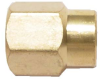Brass Pipe Female Coupler -- BFCR-16-12