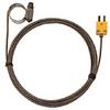 Digi-Sense Type-K Hose Clamp Probe 0.50 -1.50 OD Mini Conn GRD 10Ft SS Braid Cable -- GO-08469-32