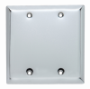 Blank Plates -- Box Mounted, Two Gang, Chrome -- SB23CH - Image