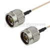 N Male to N Male Cable RG-316 Coax in 12 Inch -- FMC0101315-12 -Image