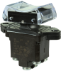 TP Series Rocker Switch, 2 pole, 3 position, Screw terminal, Above Panel Mounting -- 2TP4-5 -Image