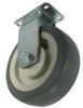 Rigid Caster ( No Brake ) Flat Rubber Wheel - Model 4A -- 4ARF4x2-R
