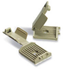 Flat Cable Clamp, Latching Adhesive Telco Gray Nylon -- 07498359364-1